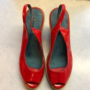 Red Bamboo wedges